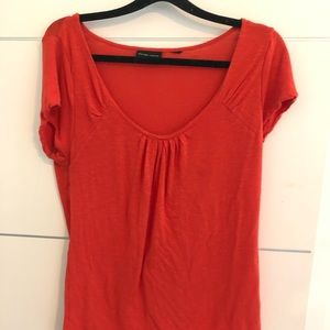 New York and company large knit red top